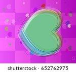 heart texture icon | Shutterstock .eps vector #652762975