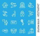 holding icons set. set of 16... | Shutterstock .eps vector #652766947