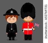 british people. police woman... | Shutterstock .eps vector #652769731