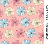 floral background. seamless... | Shutterstock .eps vector #652771291