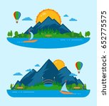 vector nature landscape with... | Shutterstock .eps vector #652775575