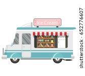 cute ice cream car icon design. ... | Shutterstock .eps vector #652776607
