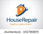 house repair logo template... | Shutterstock .eps vector #652780855