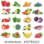 fruits and vegetables... | Shutterstock . vector #652781611