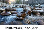 Mountain's River Amongst Large...
