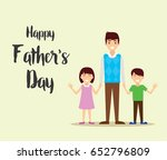 happy father's day  daughter...   Shutterstock .eps vector #652796809