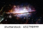 nebula and galaxies in deep... | Shutterstock . vector #652798999