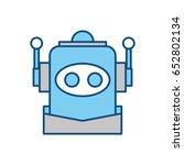 robot funny toy | Shutterstock .eps vector #652802134