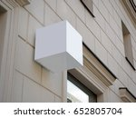 signboard side view of empty... | Shutterstock . vector #652805704