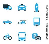 transportation colorful icons... | Shutterstock .eps vector #652808341