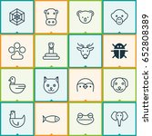 nature icons set. collection of ... | Shutterstock .eps vector #652808389