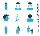 person colorful icons set.... | Shutterstock .eps vector #652808719