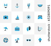 hot colorful icons set.... | Shutterstock .eps vector #652809091