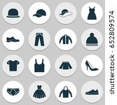 clothes icons set. collection...   Shutterstock .eps vector #652809574