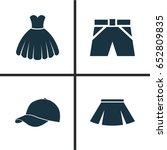 clothes icons set. collection... | Shutterstock .eps vector #652809835