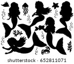 vector black silhouettes of