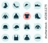 garment icons set. collection... | Shutterstock .eps vector #652811275