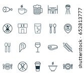 cafe icons set. collection of...   Shutterstock .eps vector #652813777