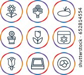 floral icons set. set of 9... | Shutterstock .eps vector #652814554