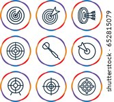 dart icons set. set of 9 dart... | Shutterstock .eps vector #652815079