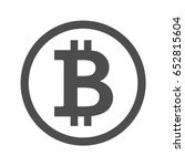 Bitcoin Sign Icon For Internet...