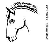stencil illustration of head of ... | Shutterstock .eps vector #652827655