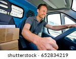 delivery boy | Shutterstock . vector #652834219