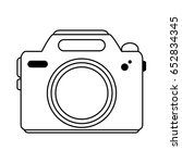 photographic camera icon image  | Shutterstock .eps vector #652834345