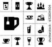 cup icon. set of 13 filled... | Shutterstock .eps vector #652834504