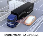 assist system avoid car... | Shutterstock . vector #652840861