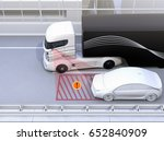 side view assist system avoid... | Shutterstock . vector #652840909