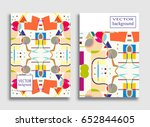 abstract composition size a4.... | Shutterstock .eps vector #652844605