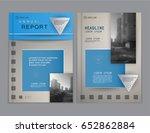 cover design annual report... | Shutterstock .eps vector #652862884