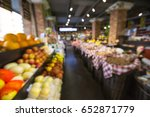 a lot of fruit is placed on the ... | Shutterstock . vector #652871779