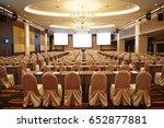 big empty modern meeting... | Shutterstock . vector #652877881
