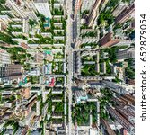 Aerial City View With...