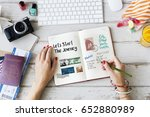 planning traveling trip notes... | Shutterstock . vector #652880989