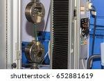 two vises tension specimen...   Shutterstock . vector #652881619