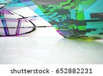 abstract architectural interior ... | Shutterstock . vector #652882231