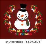 cute christmas card | Shutterstock .eps vector #65291575