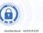 cyber security of  network... | Shutterstock .eps vector #652919155
