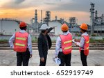 construction workers are... | Shutterstock . vector #652919749