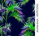 palm seamless pattern | Shutterstock .eps vector #652921561