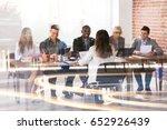 multi ethnic businesspeople...   Shutterstock . vector #652926439