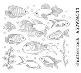 elements of fish made in the... | Shutterstock .eps vector #652926511