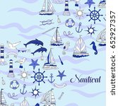 nautical background with ships... | Shutterstock . vector #652927357