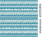 vector greek wave and meander... | Shutterstock .eps vector #652931854