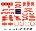 vector collection of decorative ... | Shutterstock .eps vector #652931947