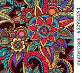 floral seamless pattern. doodle ... | Shutterstock .eps vector #652932091