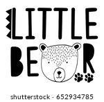 Little Bear Typography Vector...